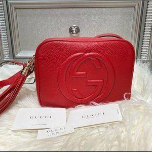 Gucci Soho Leather Disco bag Red bag